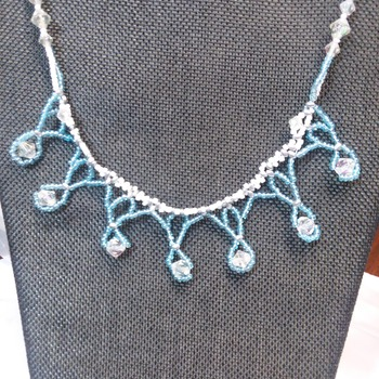 Blue lace Necklace 121110