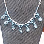 Blue lace Necklace 121110