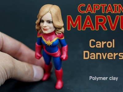 Carol Danvers (Captain Marvel) - Polymer clay tutorial