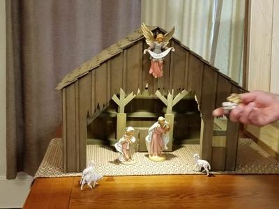 Christmas Nativity Manger Set Assembly