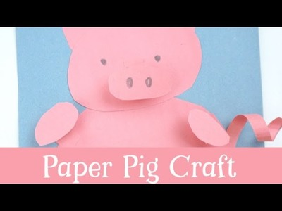 Construction Paper Pig Craft for Kids