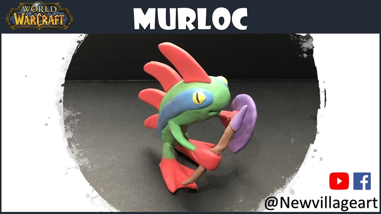 Creating a Murloc from World of Warcraft using Polymer Clay