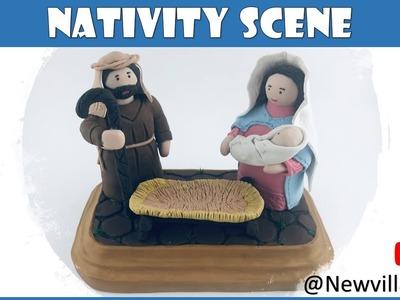 Creating the nativity scene base using Polymer Clay