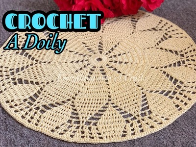 CROCHET Easy and Beautiful Doily || Crochet Doily