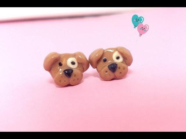 Cute Polymer clay jewelry idea tutorial, Cute Dog stud earring tutorial: