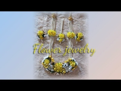 D.i.y how to make handmade artificial flower jewelry for haldi 2019