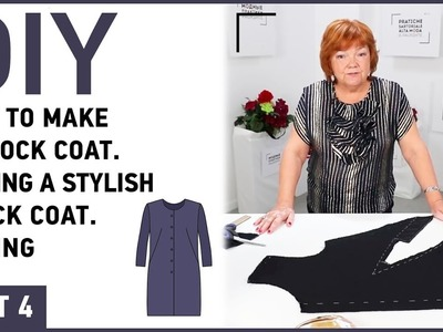DIY: How to make a frock coat. Sewing a stylish frock coat. Fitting.