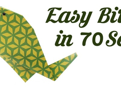 Easy origami Bird in 70 sec, Easy Origami for Kids, Basic origami, Simple Origami for Beginners