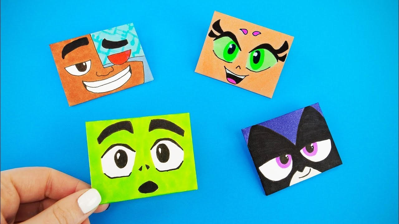Funny Origami Envelopes For Less Then 5 Minutes! | LETTER FOLDING ORIGAMI WITH TEEN TITANS