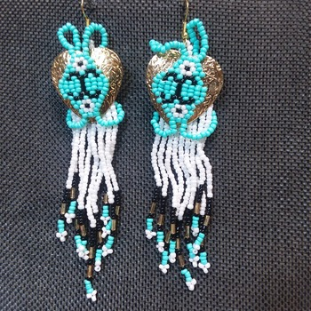 Gold concho earrings