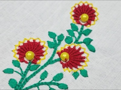 Hand Embroidery Beautiful Flower Embroidery for Baby Frocks,Easy Hand Stitch Sewing Hack