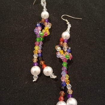 Handmade Multi Colour Earrings