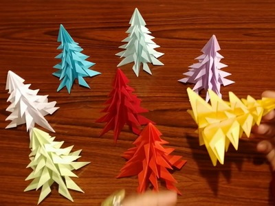 How to make 3D Christmas tree - Top Origami