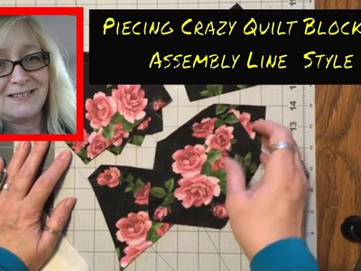 How to Make a Crazy Quilt Part 5 ~ Assembly Line Sewing Crazy Quilt Blocks ~ DancesWithPitBulls