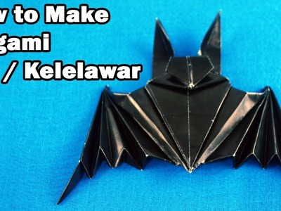 How to make a origami bat step by step