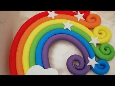 How To Make Rainbow Fondant | Rainbow Fondant | Rainbow Cake