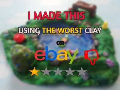 I TRIED THE WORST POLYMER CLAY ON EBAY AND MADE IN WORK | KOI FISH POND ENVIRONMENT