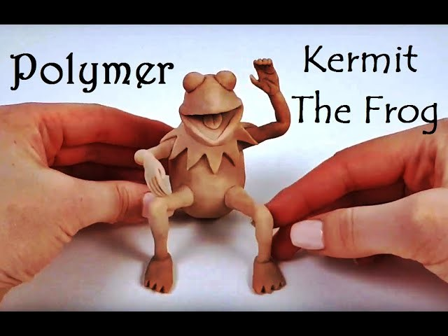 Kermit The Frog Figure from Polymer Clay #clay #figure #kermitthefrog