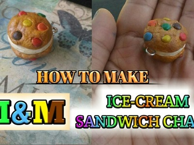 M&M Ice-Cream Sandwich Charm (polymer clay)