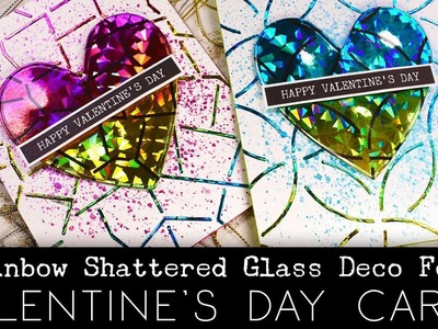 Make Rainbow Shattered Glass Deco Foil Cards