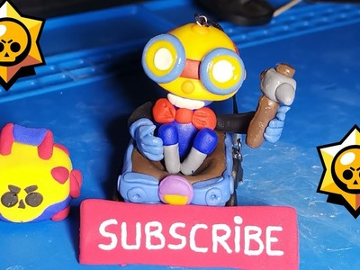 Making Brawl Stars Carl (polymer clay tutorial)