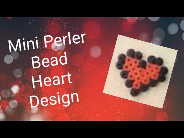 Mini Perler Beads Heart Design