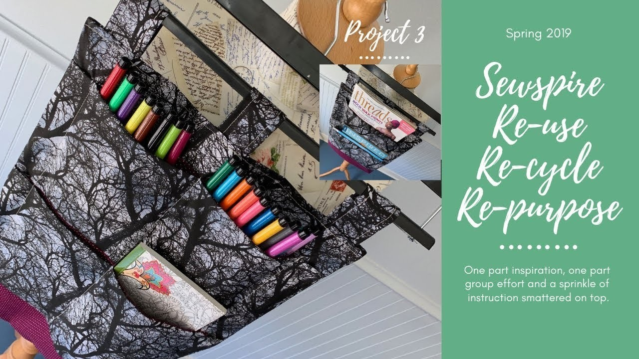 My process for designing and sewing a hanging organizer with hidden pockets