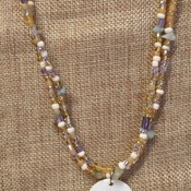 Necklace sandy beach colors
