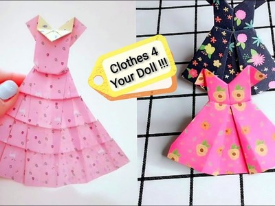 Craft Ideas Origami Clothes For Dolls Origami Princess Dress