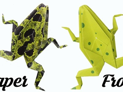 Origami Frog, Easy Origami for Kids, Basic origami, Simple Origami for Beginners, Paper Origami