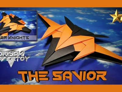 Origami Plane Papertoy - THE SAVIOR (The Five - part 1) - deyeight collection 2019