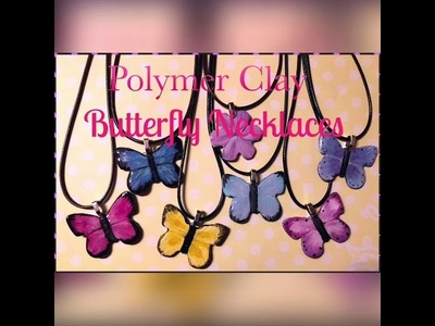 Polymer Clay Butterfly Necklace tutorial