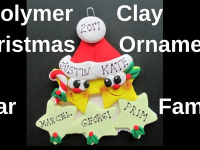 Polymer Clay Christmas Ornament Star Family