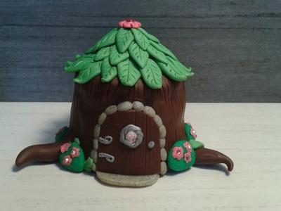 Polymer clay fairy house #2