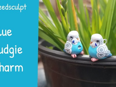 Polymer Clay Speedsculpt - Blue Budgie Charm