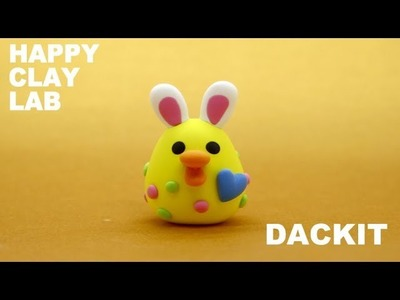 Polymer clay tutorial.How to make EASTER DACKIT.Picari clay