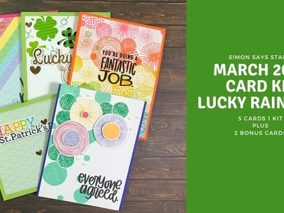 SSS March 2019 Card Kit Lucky Rainbow | 5 Cards 1 Kit & 2 Bonus Cards
