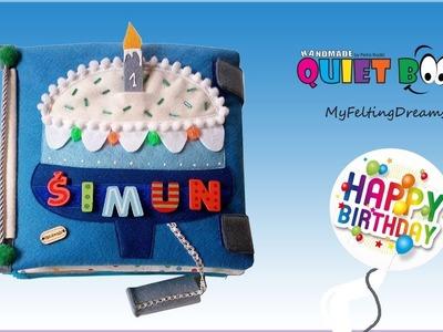 "85. Personalized ""Happy birthday"" Quiet book - handmade by Petra Radic, My Felting Dreams"