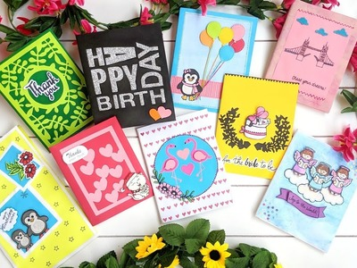 Beautiful and Easy Handmade Cards using Die cuttings  & Stamps