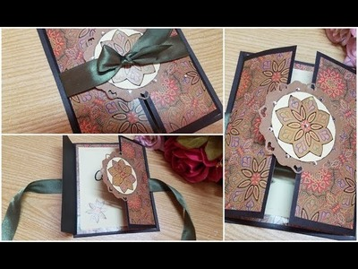 Beautiful handmade Gate-fold???????? greeting card idea for best friend