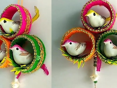 Best out of waste bangles || bird wall hanging || DIY || handicraft