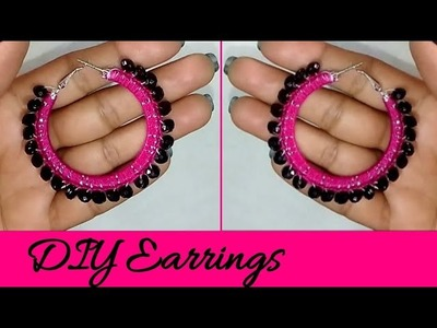 Black Pearl earrings.5 Minutes DIY.