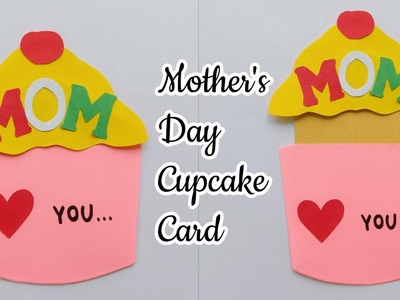CupCake Card for Mom.Mother's Day CupCake Card.Handmade CupCake Card for Mother.CupCake Mom Card