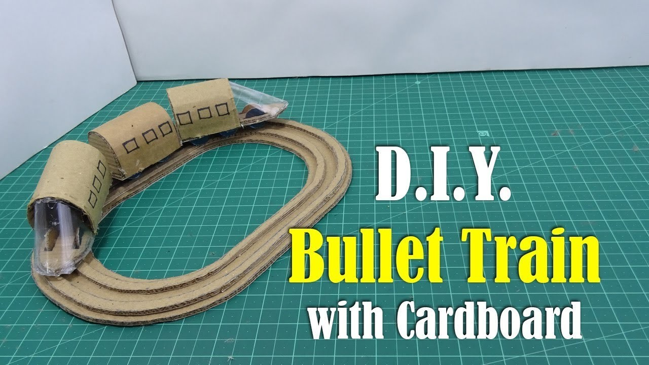 DIY: How to Make Bullet Train with Cardboard