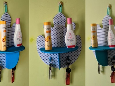 DIY Organizer with Key holder  Using Cardboard | Best out of Waste