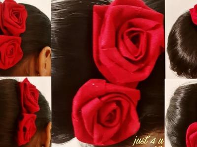 Diy Rose hair pin.u pin.hair accessories.rose flower for hair bun.pin for party.easy hair pin