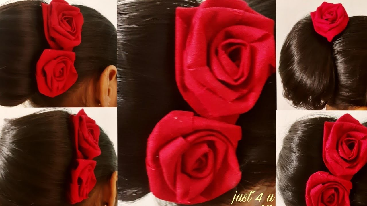 Diy Rose hair pin.u pin.hair accessories.rose flower for hair bun.pin for party.easy hair pin