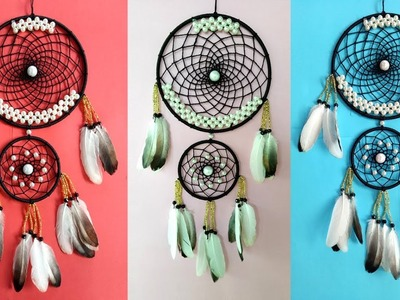 DIY Super Easy Way to Make a Woolen Dreamcatcher | Step by step slow video tutorial