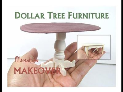 Dollar Tree to Luxury Miniature Furniture Makeover DIY Farmhouse Dining KitchenTable
