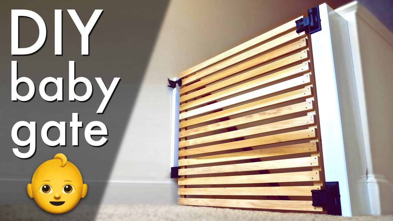 Easy DIY Modern Baby Gate or Pet Gate ????. How To Build - Woodworking